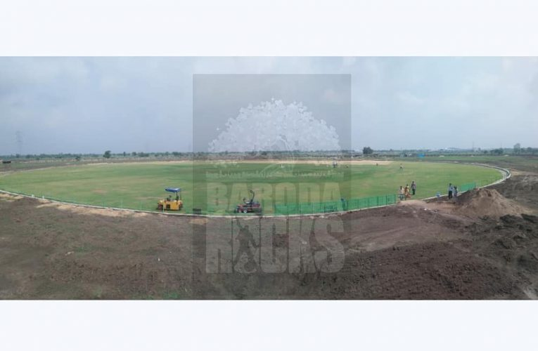 Kotambi Stadium work in progress.  #stadium #kotambi #Cricket #Vadodara #Unlock2…