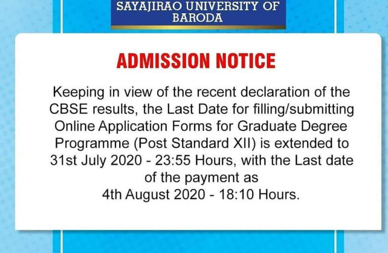 Note : Admission extended till 31st July from @themsubaroda   .  #themsubaroda #…