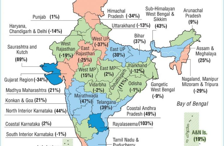 #Monsoon2020: Distribution of rainfall in #India between June 1 and July 18 witn…