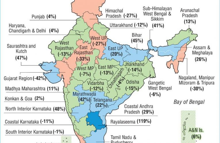 First two months of #Monsoon2020 rainfall distribution in #India between June 1 …